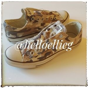 Camouflage Converse lowtop slip on sneakers